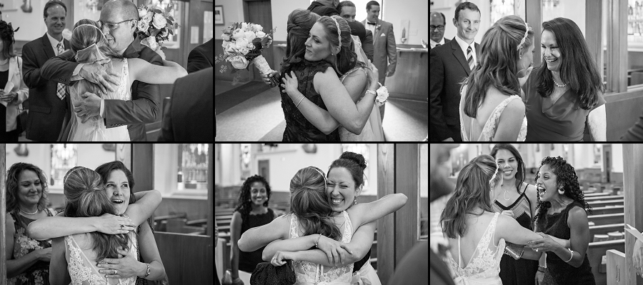 St. Joseph's Church wedding ceremony photos