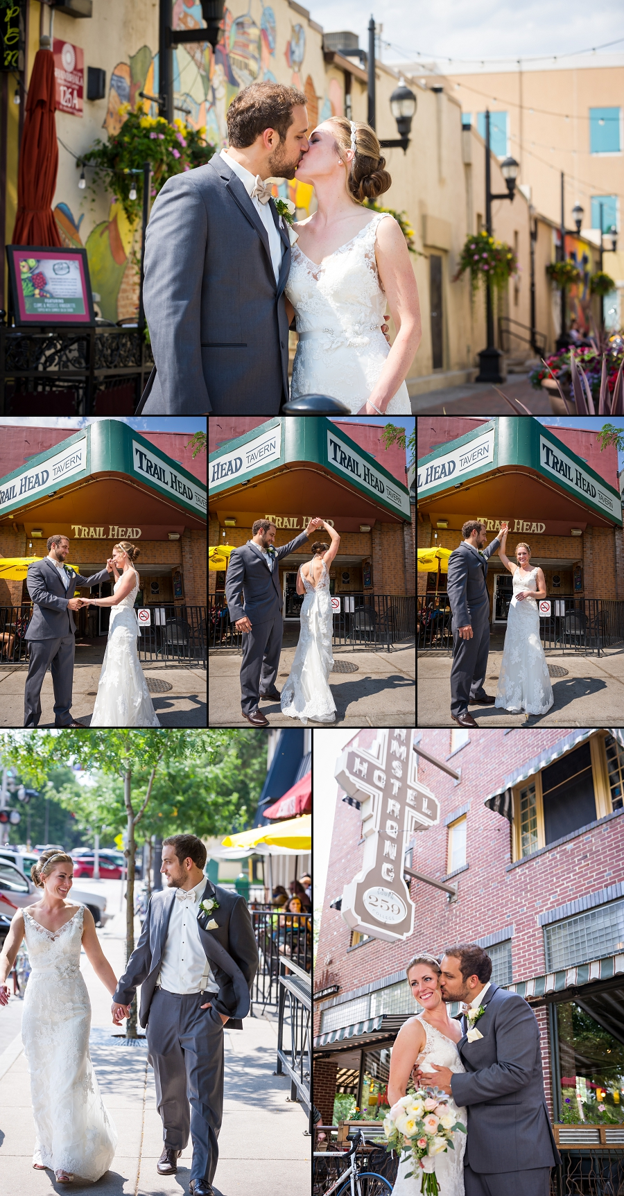 Old Town Fort Collins wedding photos